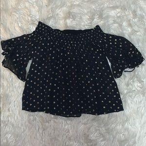 Women's Abercrombie off the shoulder blouse